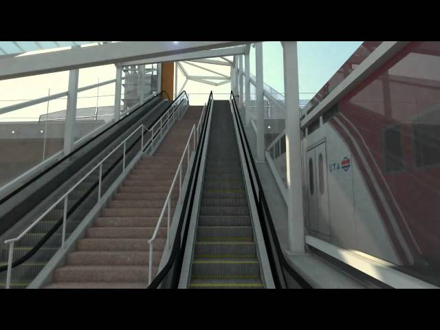 Future Airport TRAX to FrontRunner Transfer Station Animation