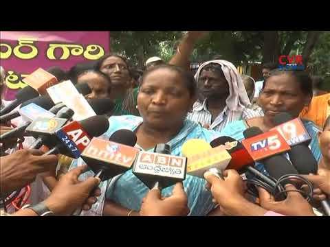 People stopped Kakinada MLA Konda Babu over House Demolishing | CVR News