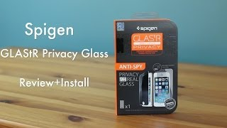 Spigen Glas.tR Privacy for the iPhone 5/5s Review+Install
