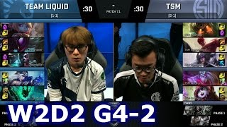 TSM vs Liquid Game 2 | S7 NA LCS Spring 2017 Week 2 Day 2 | TSM vs TL G2 W2D2