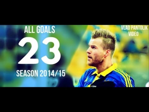 Andriy Yarmolenko - All 23 Goals | Season 2014/15 HD