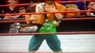WWE Royal Rumble 2011-Hornswoggle does Attitude Adjustment to Tyson Kidd