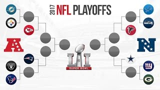 2017 NFL PLAYOFF PREDICTIONS! Super Bowl 51 Winner Prediction and FULL PLAYOFF BRACKET PREDICTIONS!