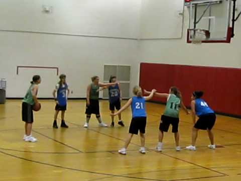 Candace and Belgrade Middle School Basketball team The Panthers