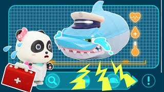Doctor Panda Cures Baby Shark | Doctor Cartoon | Kids Cartoon | Play Safe | Kids Toys #ToyBus