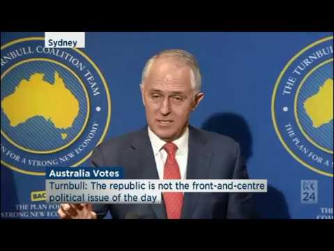 Malcolm Turnbull says he's still a republican but it's not political issue of today