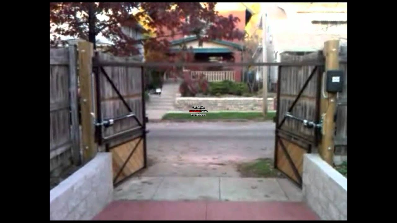 Can you install a dual automatic gate opener with solar