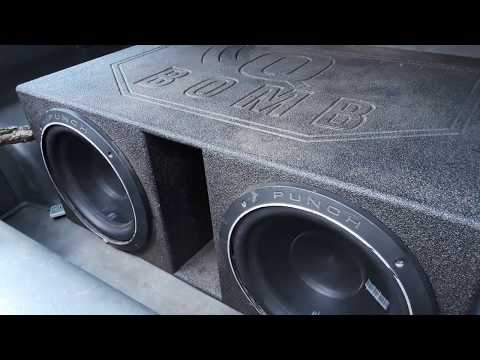 Q bomb subwoofer box test