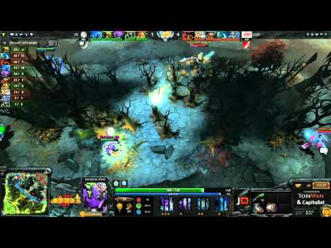 LGD vs Invictus Gaming Game 1  Sina Cup TobiWanDOTA DotaCapitalist