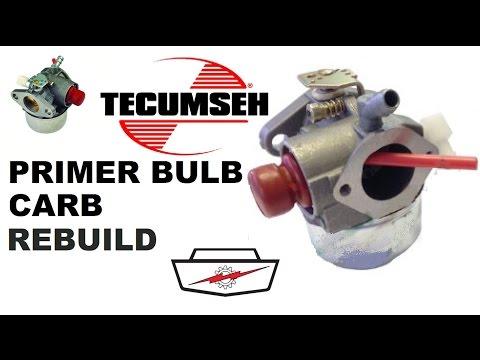 Tecumseh carb rebuild part 1