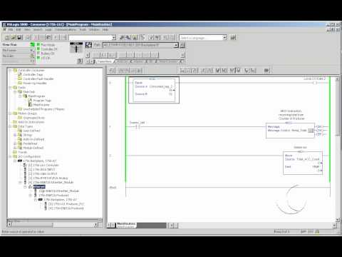 How to configure a Produce and Consume Tag in RSLogix5000