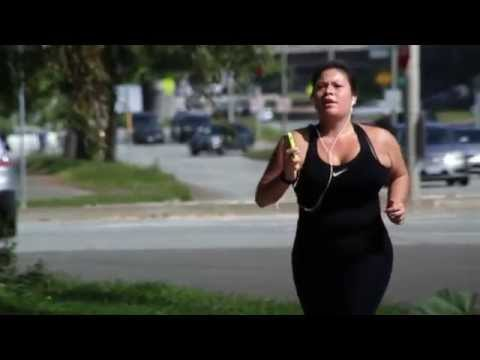 Cute Girl With Big Boobs Running video