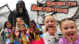 Escape the Babysitter! Haunted House Prank on Babysitters!!