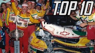 Top 10 LEGENDARY NASCAR Moments -- IMPOSSIBLE Under Today's Rules