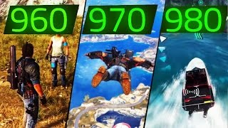 JUST CAUSE 3 GTX 960 VS GT X 970 VS GTX 980 GAMEPLAY