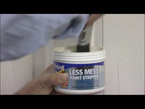 How to strip gloss paint with minimal mess and effort
