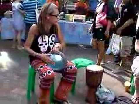 Drum circle at Chatuchak market