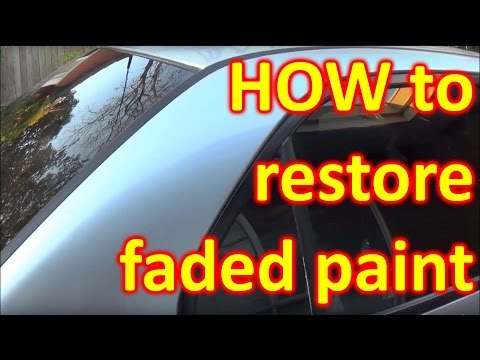 How to fix SUN DAMAGED / FADED paint  (peeling clear coat)
