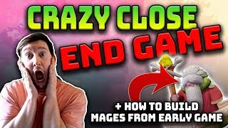 CRAZY CLOSE END GAME - How to build MAGES from EARLY GAME   Auto Chess Mobile