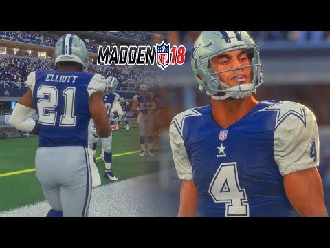 Madden 18 Gameplay Full Game Dallas Cowboys Vs Green Bay