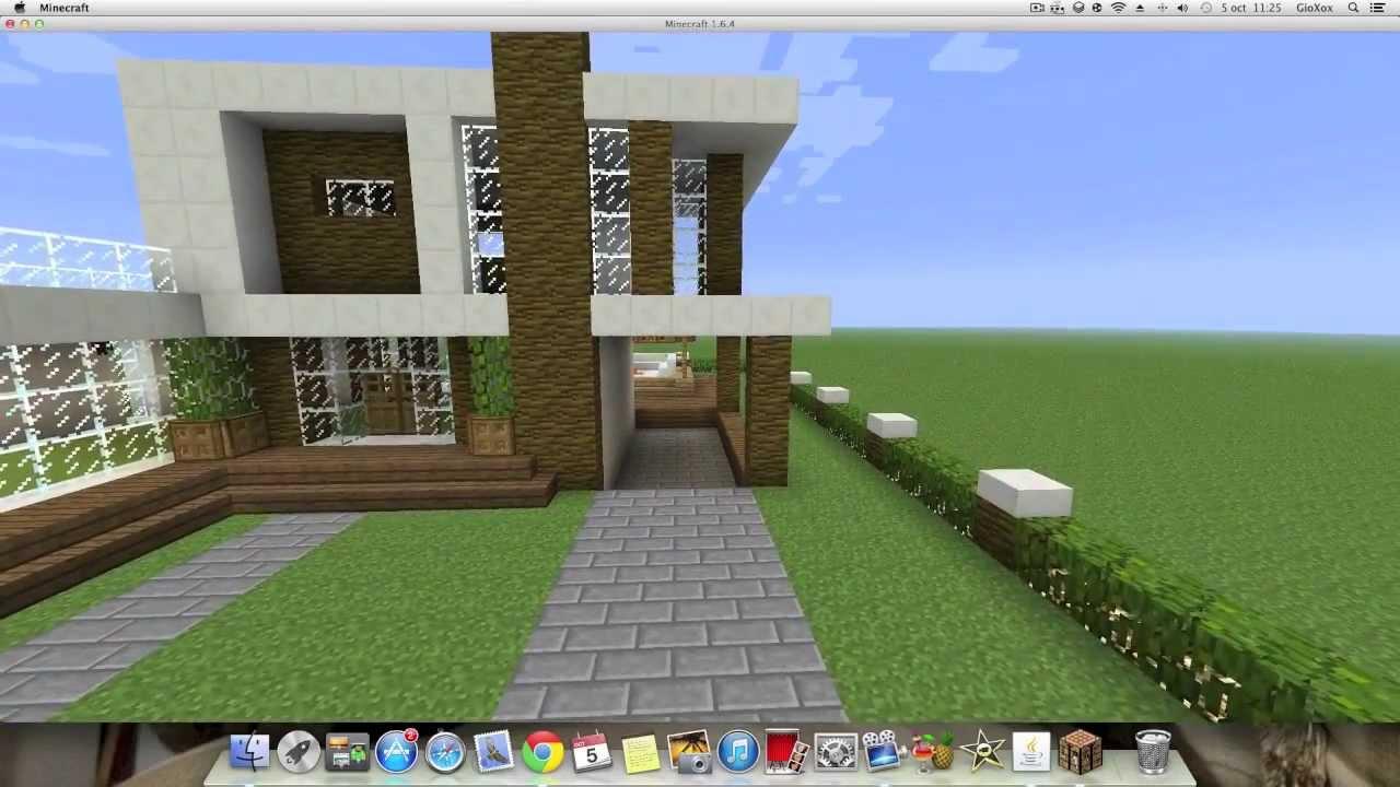 Como hacer una linda casa moderna en minecraft pt1 youtube for Hacer casas