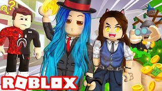 CRAZY Roblox Bank Heist! Will they catch us?