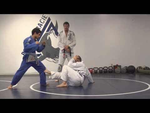 Gracie Jiu-Jitsu Martial Arts Demonstration 2, Standing Up In Base, Headlock Defense