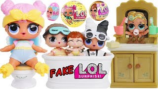 LOL Surprise! Dolls Lil Luxe + Big Sisters Morning Routine