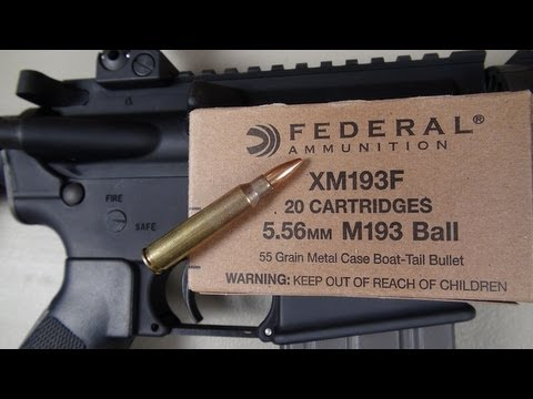 5.56mm NATO XM193:  Drywall & Ballistic Gel Test