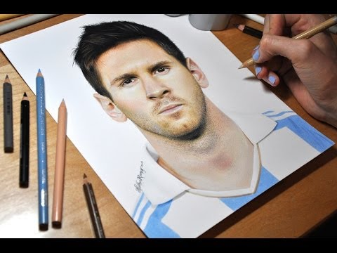 Drawing Lionel Messi video