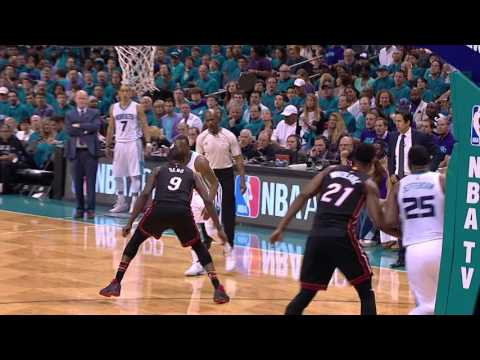 Kemba Walker and Dwyane Wade Duel in Charlotte