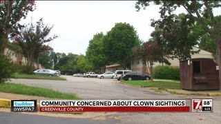 Kids claim clowns tried to lure them to woods near Greenville apartments