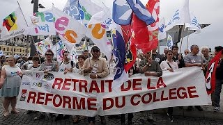 Fransa'da öğretmenler Eylemde