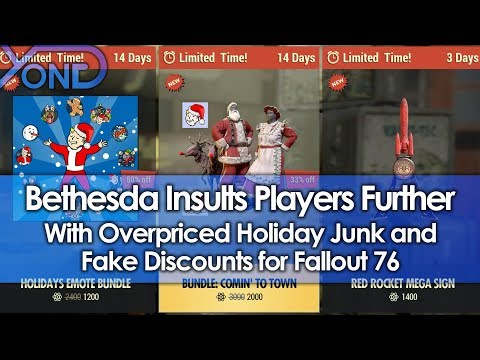 Bethesda Insults Players Further with Overpriced Holiday Junk and Fake Discounts for Fallout 76