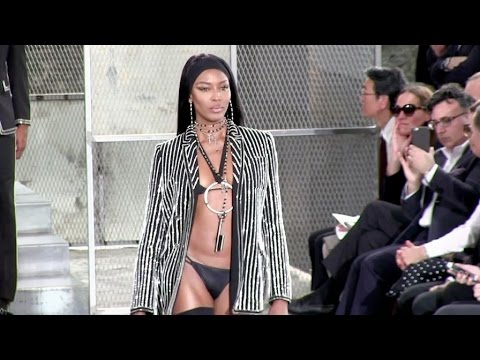 The forever sexy Naomi Campbell on the runway at the Givenchy Men Fashion Show in Paris