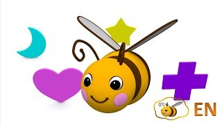 Shapes for babies toddlers kids children infants. Learn 2d shapes with a little bee -- part 1