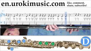 Flute lessons Kesha - This Is Me - The Greatest Showman Sheet Music Tutorial um-ih352