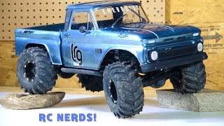 """RC ADVENTURES - """"BLUE STEEL"""" CHEVY 1966 C10 AXiAL SCX10 BEAST PiCKUP """"Re-iNCARNATE"""" RC NERDS COLLAB!"""