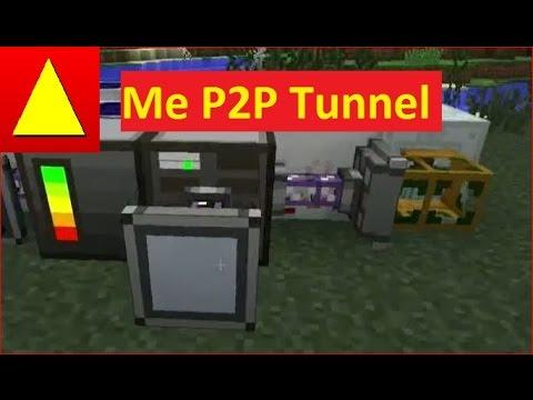 ME P2P Tunnel von Appied Energistics Grundlagen Flüssigkeiten Energie und Items transportieren Tutor