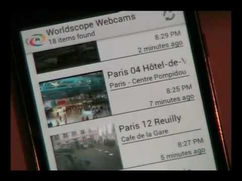 Worldscope Webcams screenshot for Android