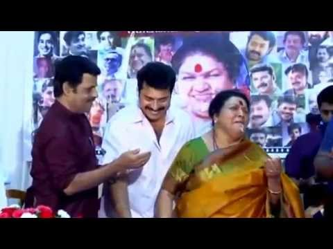 Kaviyur Ponnamma Celebrating 70th Birthday with Mammootty, Balachandra Menon & Siddique etc.