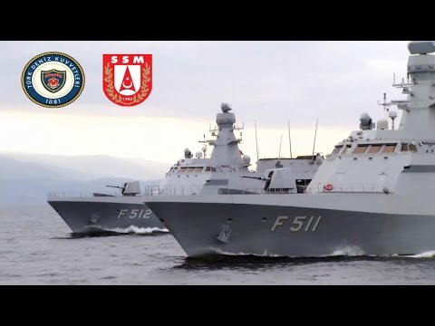 Turkish Stealth Warships MILGEM Project 2014 Milli Savas Gemisi HD