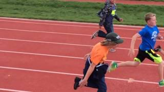 Kid runs like an anime character at track meet......