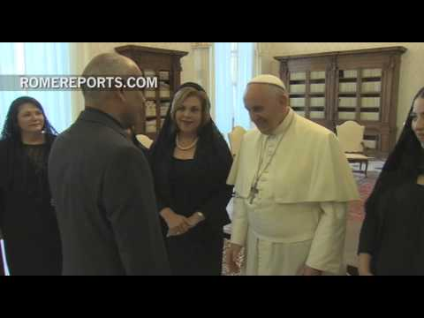 Pope to Panamanian Ambassador: You're a Latin American with Swiss punctuality!