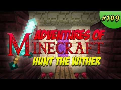 Adventures Of Minecraft Hunt The Wither Boss Nether Rail Fun Building A Station At The Nether Fortress #109