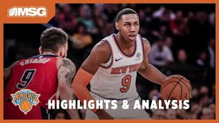 RJ & Trier Quietly Fill Boxscore Against Wizards | New York Knicks