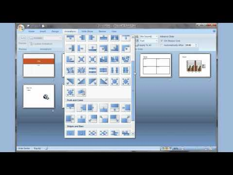 Microsoft PowerPoint 2007 pt 1 (Add slide, pictures, sound, video, themes, animation &more)