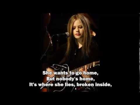 Avril Lavigne - Nobody's Home - LIVE Acoustic (Lyrics)