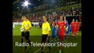 SWITZERLAND vs ALBANIA The teams on the field - ZVICER SHQIPERI dalja e skuadrave dhe himnet HD