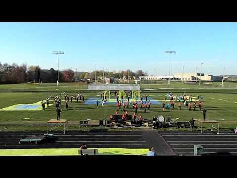 "Marching Mustangs 10/25/2012 perform ""OUTSIDE"" @ Edgewood High School"